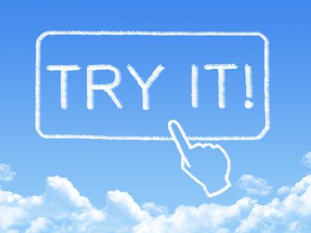 Try it message cloud shape photo