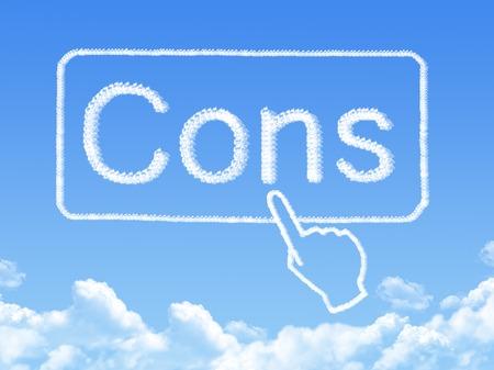 Cons message cloud shape photo