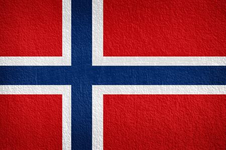 Grunge flag of Norway photo