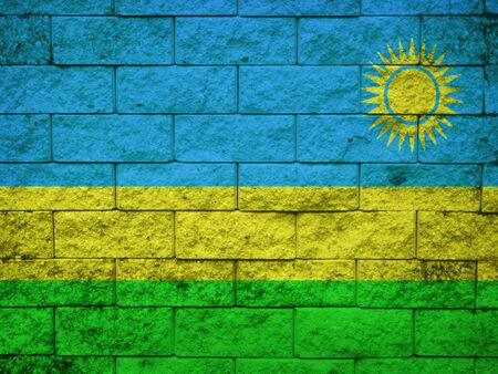 rwanda: Grunge flag of Rwanda