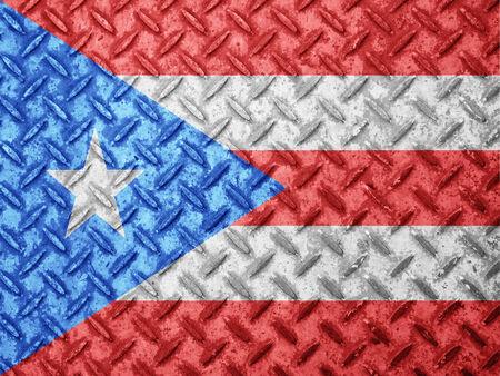 bandera de puerto rico: Bandera de Puerto Rico en la pared del grunge