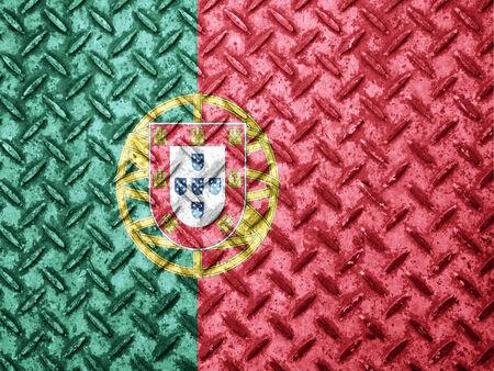 bandera de portugal: Portugal bandera en la pared del grunge