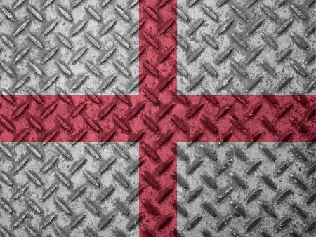 England flag on grunge wall photo