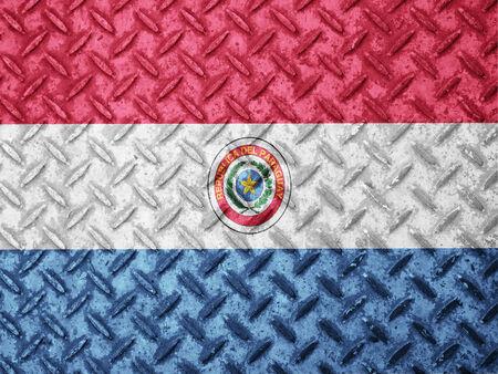 bandera de paraguay: Bandera de Paraguay en la pared del grunge Foto de archivo