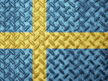 bandera de suecia: bandera de suecia en la pared del grunge