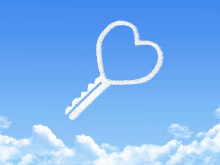 Key to love cloud shape photo