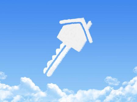 Key to home cloud shape photo