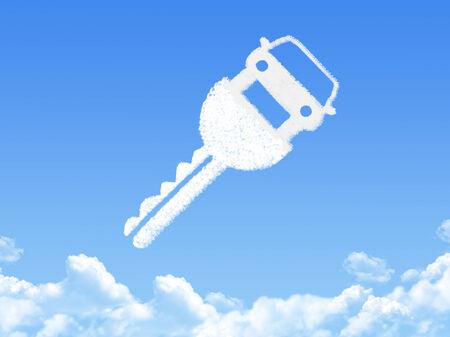Key to car cloud shape photo