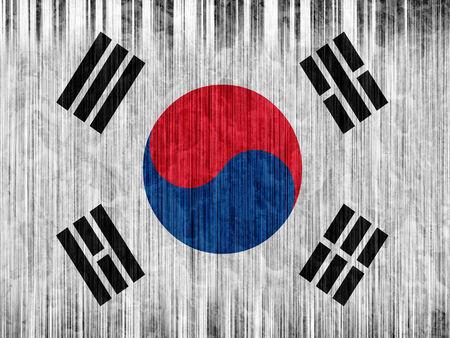 regional: South Korea flag paper texture