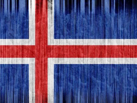 flag of iceland: Islandia bandera de papel de textura