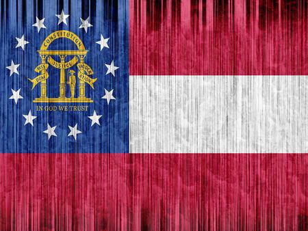 regional: Georgia State flag paper texture