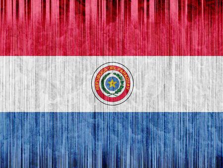 Paraguay flag: Paraguay bandera de papel de textura Foto de archivo