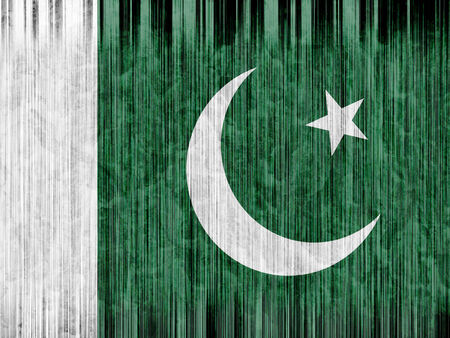 clime: Pakistan flag paper texture Stock Photo