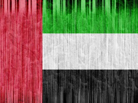 united arab emirates: United Arab Emirates flag paper texture Stock Photo