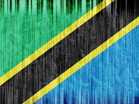 regional: Tanzania flag paper texture