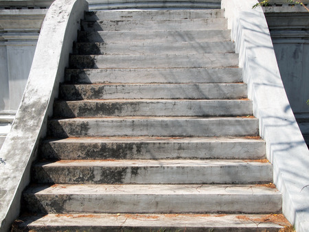road and path through: stairs in temple, thailand Stock Photo
