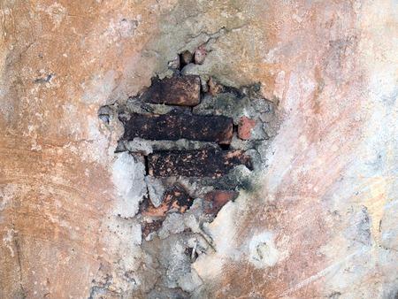 old walls are cracked Standard-Bild