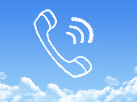 phone cloud shape photo