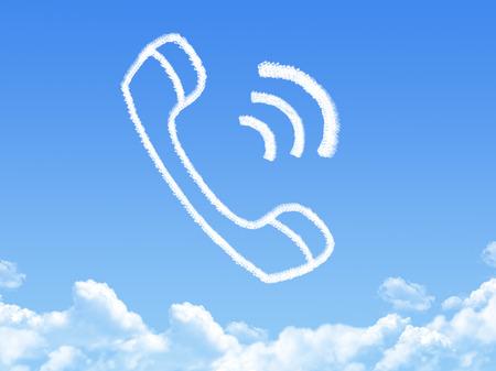 phone cloud shape Stock Photo