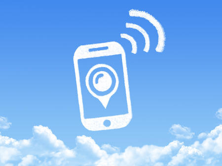 incoming: phone cloud shape Stock Photo