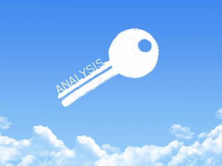 Key to Analysis cloud shape photo