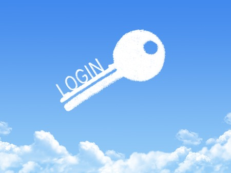 data entry: Key to Login cloud shape