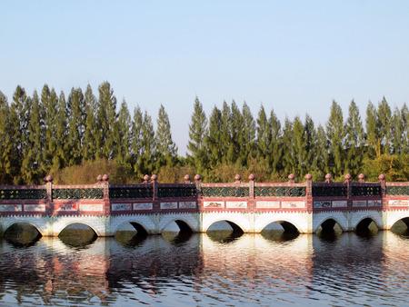 across: bridge across river