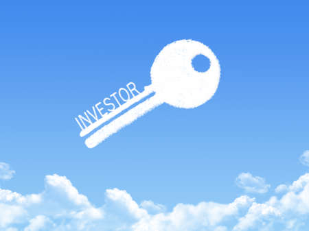 investor: Key to investor cloud shape Stock Photo