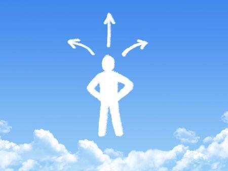choice concept: Choice. Concept shaped cloud
