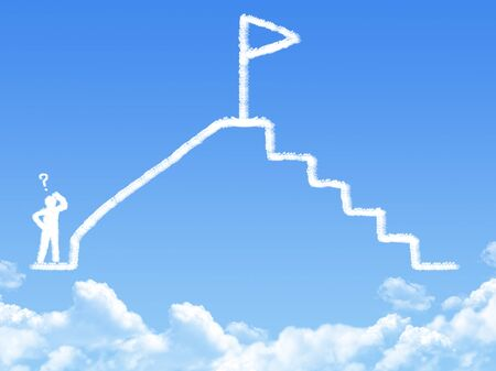 overthrow: victory concept cloud shape Stock Photo