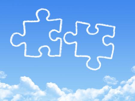 puzzling: Puzzle piece cloud shape