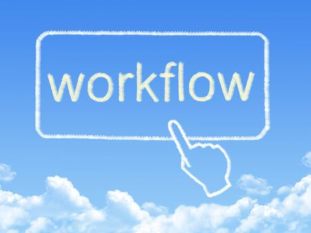 business process reengineering: workflow message cloud shape