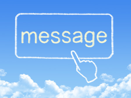 message cloud: message cloud shape