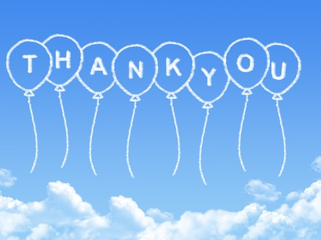 Cloud shaped as thank you Message