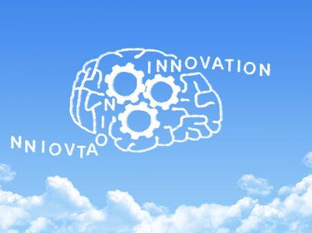 sensory: human brain concept cloud shape Stock Photo