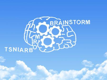 head wise: human brain concept cloud shape Stock Photo