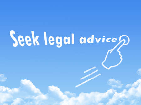 seek: seek legal advice message cloud shape