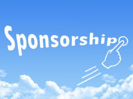 sponsorship: Sponsorship message cloud shape Stock Photo