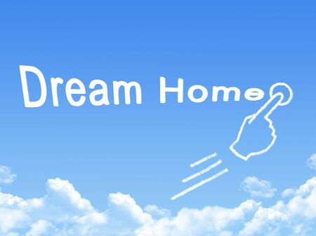dream home message cloud shape photo