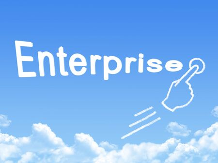 enterprise message cloud shape photo