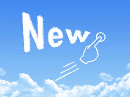 new message: New message cloud shape