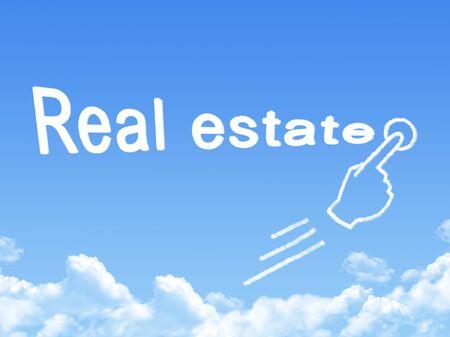 real estate message cloud shape photo
