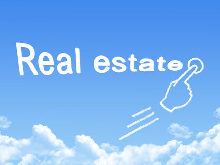 real estate message cloud shape photo