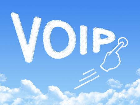 telephony: VOIP message cloud shape
