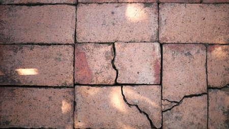 cranny: Cracked concrete texture closeup background