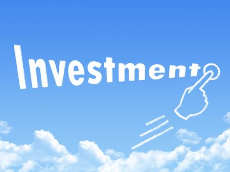 message cloud: Investment message cloud shape Stock Photo