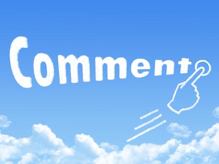 annotation: comment message cloud shape