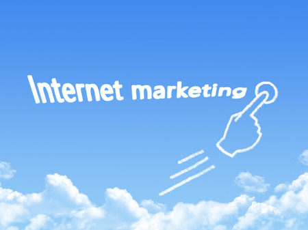 urging: internet marketing message cloud shape