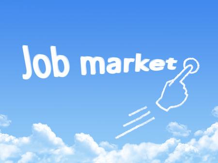 job market: Job market message cloud shape