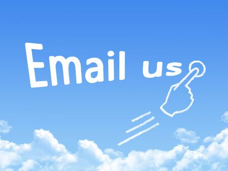email us: e-mail us message cloud shape Stock Photo